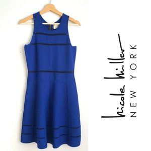 Artelier Nicole Miller Drop Waist Dress Blue MED